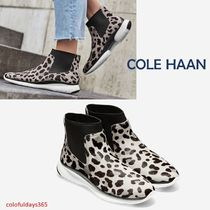 Cole Haan ZEROGRAND Leopard Patterns Rubber Sole Boots Boots