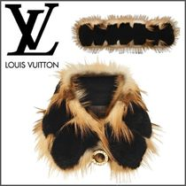 Louis Vuitton Silk Blended Fabrics Plain Party