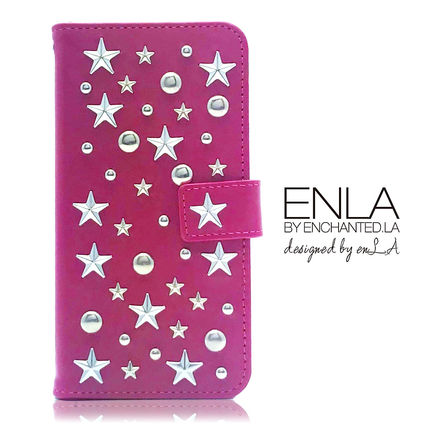 Star Dots Studded Leather Handmade iPhone 8 iPhone 8 Plus
