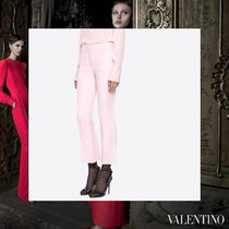VALENTINO Wool Plain Long Elegant Style Cropped & Capris Pants