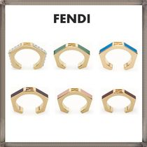 FENDI Costume Jewelry Unisex Elegant Style Rings