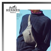 HERMES Plain Leather Hip Packs