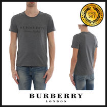 Burberry Crew Neck Cotton Short Sleeves Crew Neck T-Shirts