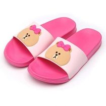LINE FRIENDS Shower Shoes PVC Clothing Flat Sandals