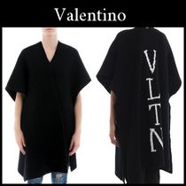 VALENTINO Wool Plain Medium Oversized Ponchos & Capes