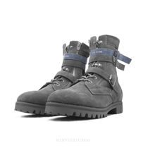 C2H4 Street Style Collaboration Leather Engineer Boots