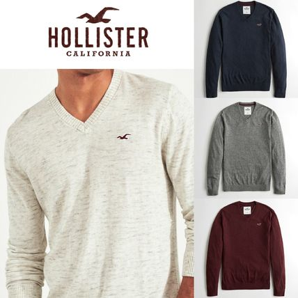 de051916530 Hollister Co. Crew Neck Long Sleeves Cotton Knits & Sweaters