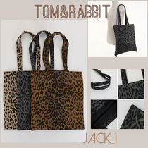 TOM&RABBIT Leopard Patterns Casual Style Shoppers