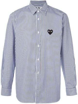 COMME des GARCONS Shirts Stripes Heart Street Style Long Sleeves Shirts 5