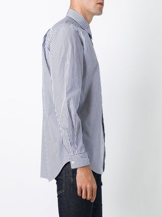 COMME des GARCONS Shirts Stripes Heart Street Style Long Sleeves Shirts 6
