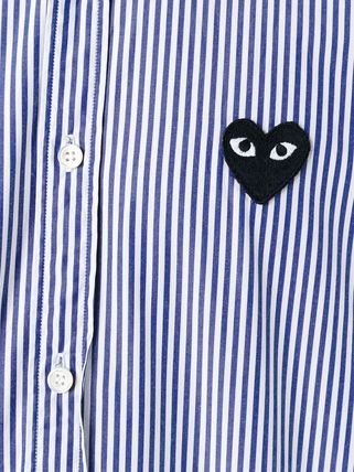 COMME des GARCONS Shirts Stripes Heart Street Style Long Sleeves Shirts 8