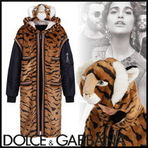Dolce & Gabbana Faux Fur Blended Fabrics Street Style Other Animal Patterns