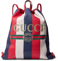 GUCCI GG Marmont Stripes Casual Style Unisex Canvas Street Style A4 2WAY