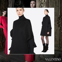 VALENTINO Wool Plain Medium Ponchos & Capes