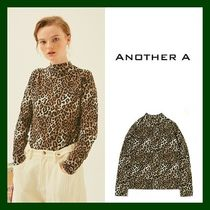 ANOTHER A Leopard Patterns Casual Style Long Sleeves Cotton Medium
