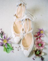 Bella Belle Flower Patterns Pin Heels Party Style Shoes