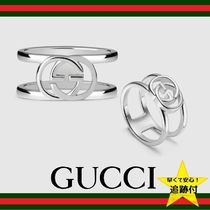 GUCCI Street Style Silver Rings