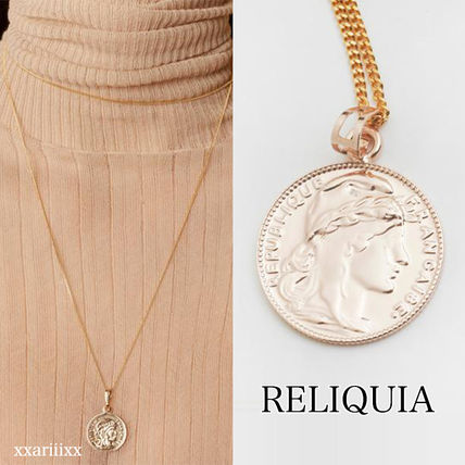 Casual Style Coin 18K Gold Necklaces & Pendants