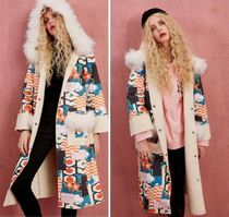ELF SACK Monoglam Casual Style Street Style Long Oversized