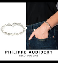 Philippe Audibert Casual Style Chain Silver Brass Bracelets