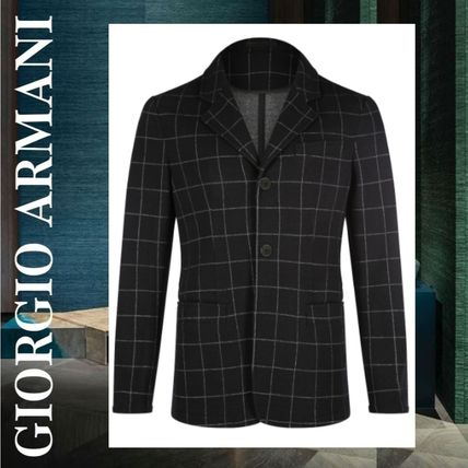 Other Check Patterns Wool Blazers Jackets