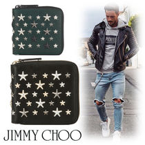 Jimmy Choo Studded Leather Folding Wallets