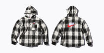 Supreme Button-down Tartan Street Style Collaboration Long Sleeves