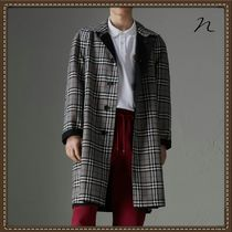 Burberry Tartan Unisex Long Trench Coats