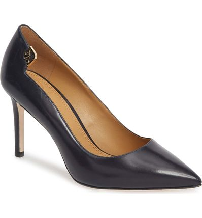 0683b3806b20e Tory Burch Plain Leather Pin Heels Office Style by Marie sSelection ...