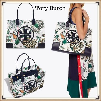 cde65ce795a ... Tory Burch Totes Flower Patterns Nylon Street Style Elegant Style Totes  ...