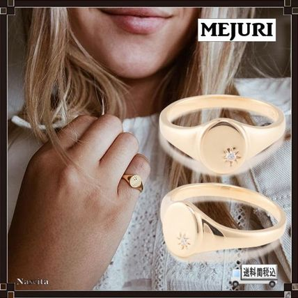 Casual Style Blended Fabrics 18K Gold Rings