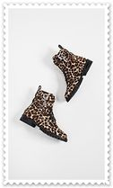 Rebecca Minkoff Leopard Patterns Round Toe Rubber Sole Lace-up Unisex