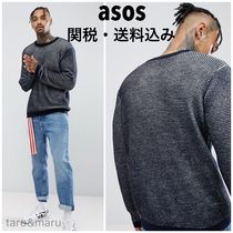 ASOS Crew Neck Pullovers Street Style Long Sleeves Plain