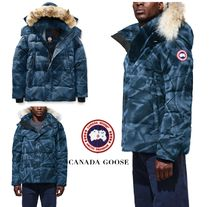 CANADA GOOSE Short Camouflage Fur Down Jackets