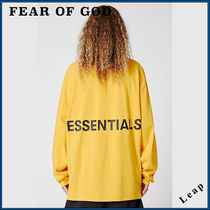 FEAR OF GOD ESSENTIALS Street Style Collaboration Plain T-Shirts