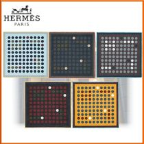 HERMES Dots Wool Fringes Accessories