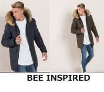 Bee Inspired Clothing Street Style Plain Long Khaki Parkas