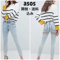 ASOS Street Style Plain Cotton Medium Skinny Jeans