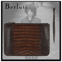 Berluti Crocodile Other Animal Patterns Clutches