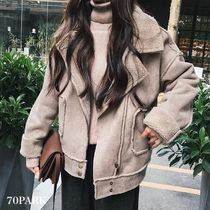 Casual Style Street Style Plain Medium Coats