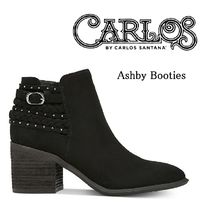Casual Style Studded Chunky Heels Ankle & Booties Boots