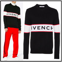 GIVENCHY Crew Neck Wool Bi-color Long Sleeves Knits & Sweaters