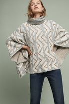 Anthropologie Blended Fabrics Medium With Jewels Ponchos & Capes