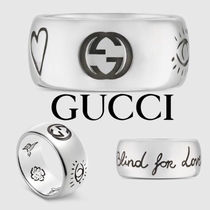 GUCCI Plain Silver Rings