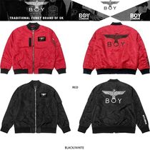 BOY LONDON Unisex Studded Medium MA-1 Bomber Jackets