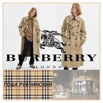 Burberry Collaboration Plain Long Trench Coats
