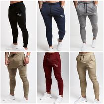 VANQUISH FITNESS Tapered Pants Street Style Plain Khaki Tapered Pants