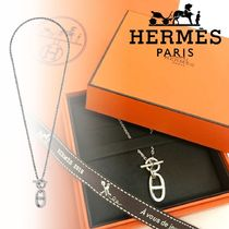 HERMES Chaine dAncre Unisex Chain Plain Silver Necklaces & Chokers