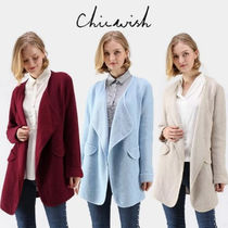 Chicwish Short Casual Style Street Style Plain Coats