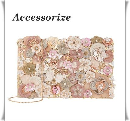 Flower Patterns 2WAY Chain With Jewels Elegant Style